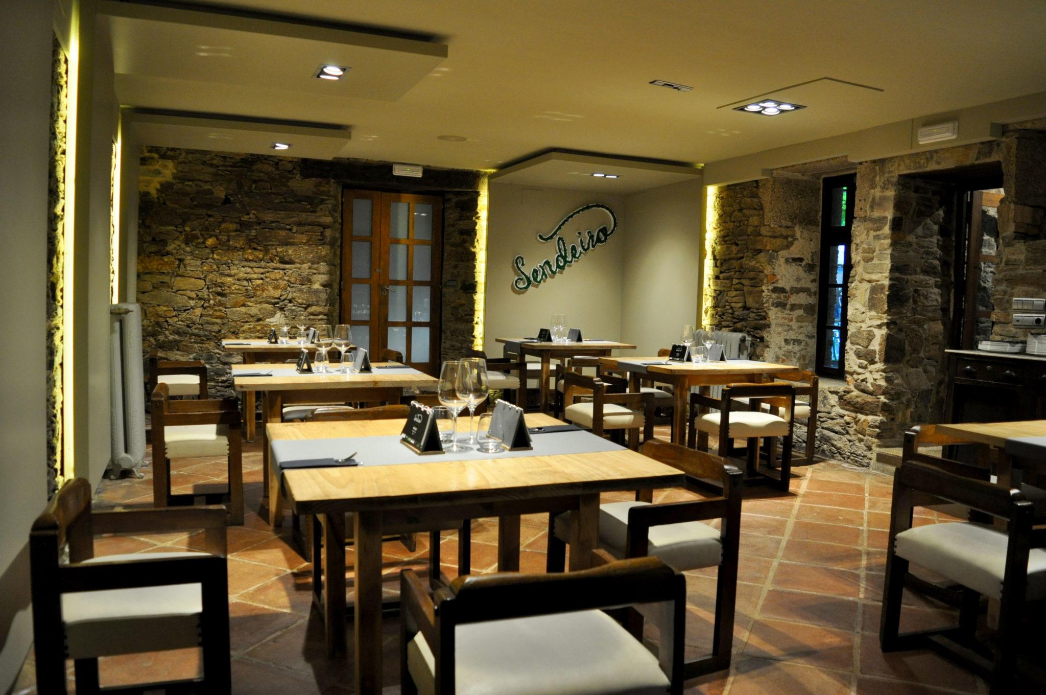 Comedor o sendeiro restaurante Santiago del Compostela